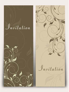 Floral Invitation Card