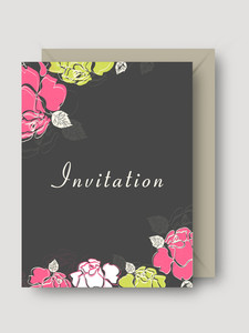 Floral Invitations Card