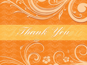 Floral Pattern Card For Thank You