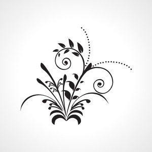 Floral Pattern Tattoo Illustration