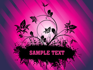 Floral Sample Text Background Series Design11