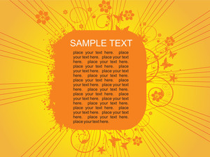 Floral Sample Text Background Series Design17