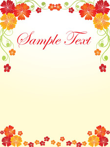 Floral Sample Text Background Series Design25