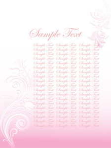 Floral Sample Text Background Series Design32