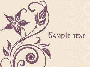 Floral Sample Text Background Series Design6