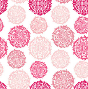 Floral Seamless Pattern With Flowers. Copy Square To The Side And You'll Get Seamlessly Tiling Pattern Which Gives The Resulting Image Ability To Be Repeated Or Tiled Without Visible Seams.