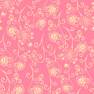 Floral Seamless Texture. Spring Flowers Pattern.