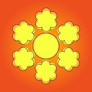 Floral Snowflake Design