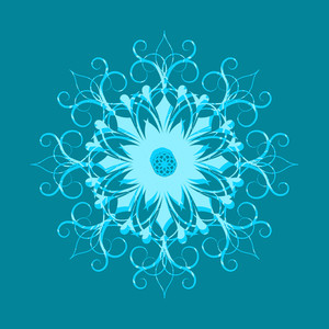 Floral Snowflake Vector Art