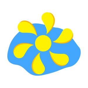 Floral Sun Design Element