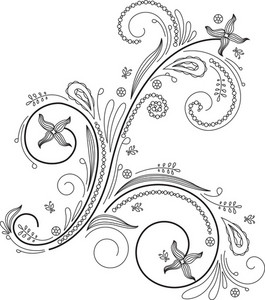 Floral Swirl Vector Element