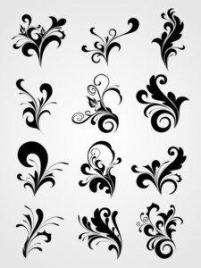 Floral Tattoos Clipart