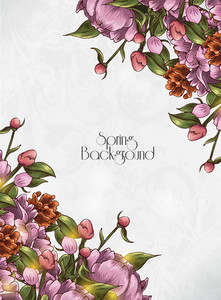 Floral Vector Background Illustation