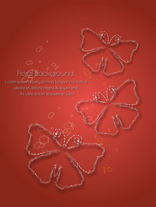 Floral Vector Background Illustration With Butterflies