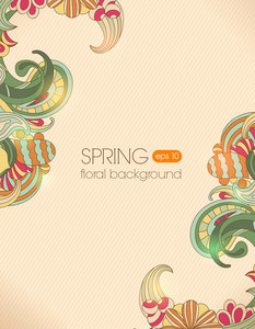 Floral Vector Background Illustration