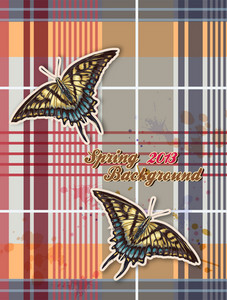 Floral Vector Background With Butterflies