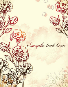 Floral Vector Background With Floral Elements