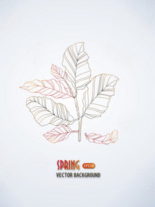 Floral Vector Background With Leaves