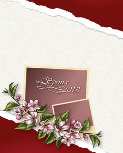 Floral Vector Background With Photo Frame