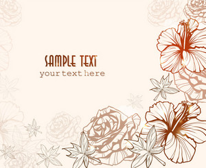 Floral Vector Background With Roses