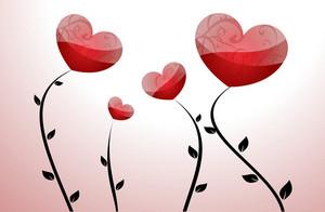 Floral Vector Hearts