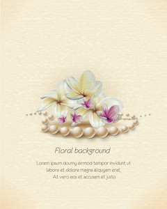 Floral Vector Illustration Background