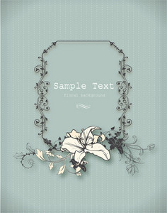 Floral Vector Illustration With Floral Frame And Spring Flowers