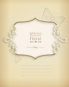 Floral Vector Illustration With Floral Frame