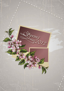 Floral Vector Illustration With Photo Frame