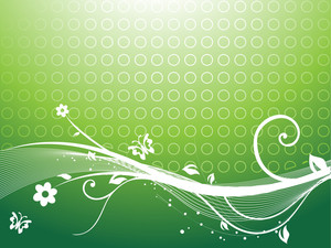 Floral Vector Themes In Green