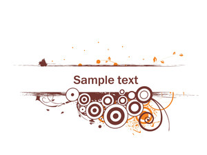 Floral Vector Wallpaper With Sample Text On White Background
