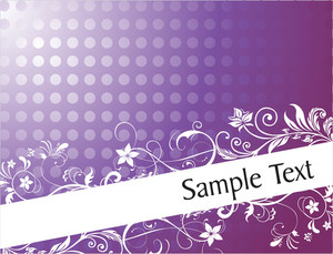 Flourish And Curve Elements For Sample Text In Gradient Purple