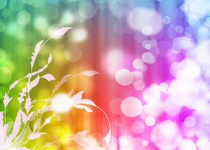Flourish Bokeh Background