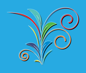 Flourish Colored Design Element