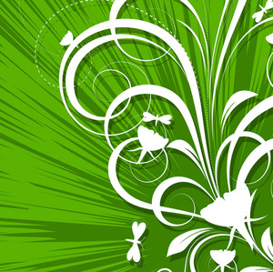 Flourish Design Abstract Background