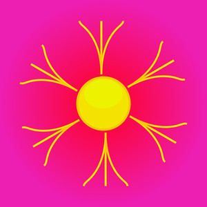 Flourish Design Sun Icon