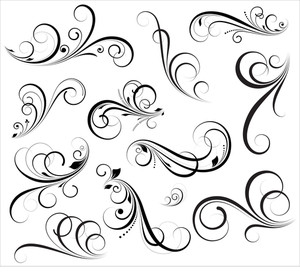 Flourish Elements Vectors