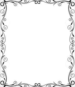 Flourish Frame Vector Design
