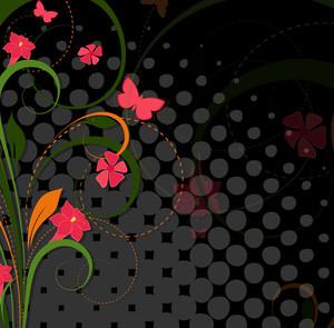 Flourish Halftone Background