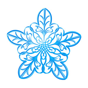 Flourish Snowflake Design Vector