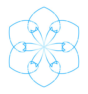 Flourish Snowflake Element