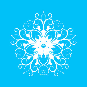 Flourish Snowflake Vector