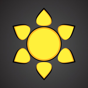 Flourish Sun Flake Vector