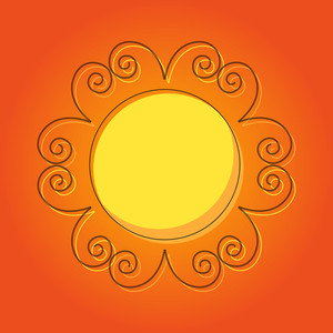 Flourish Sun Vector Design