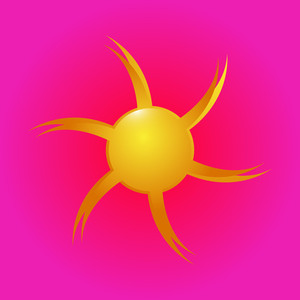 Flourish Sun Vector Icon