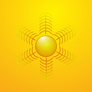 Flourish Sun Vector