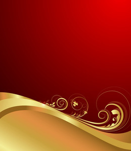 Flourish Swirl Background