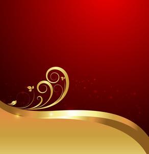 Flourish Swirl Sparkles Background