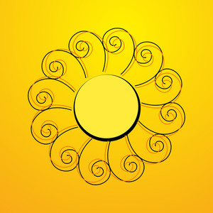 Flourish Swirl Sun Element
