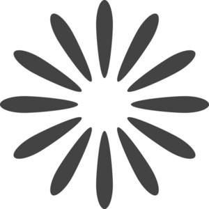 Flower 2 Glyph Icon